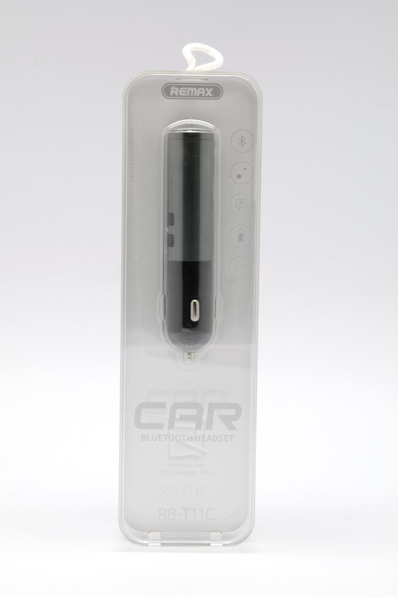 Auto punjac remax rb-t11c 2xusb 2.1a + bluetooth slušalica (sivi)